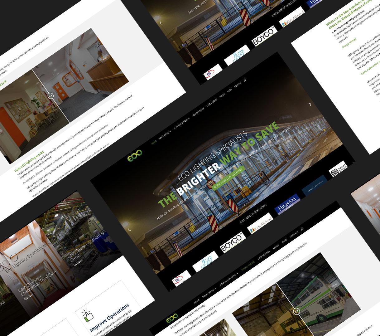 Eco website mockup