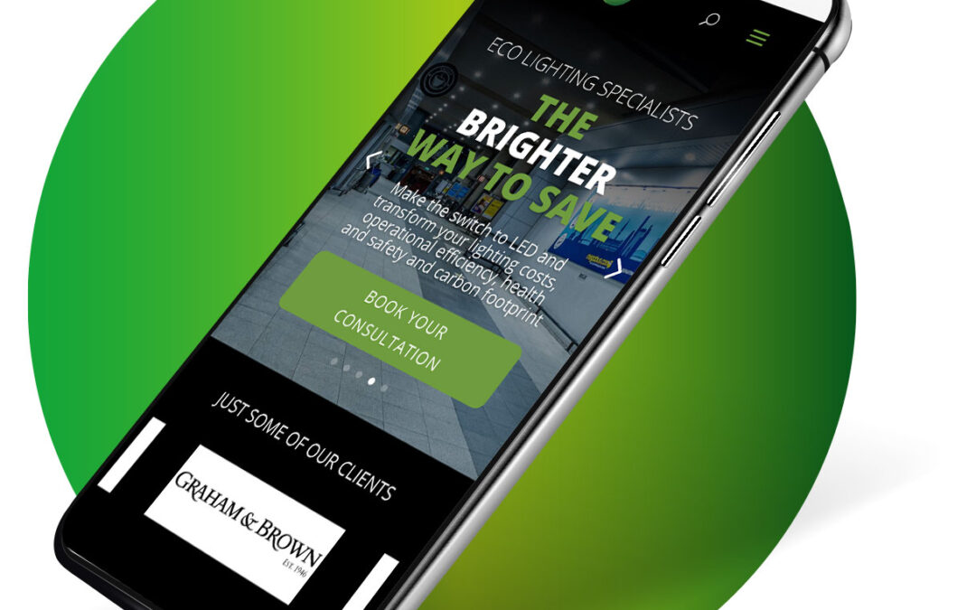 Eco Lighting Specialists website design and build