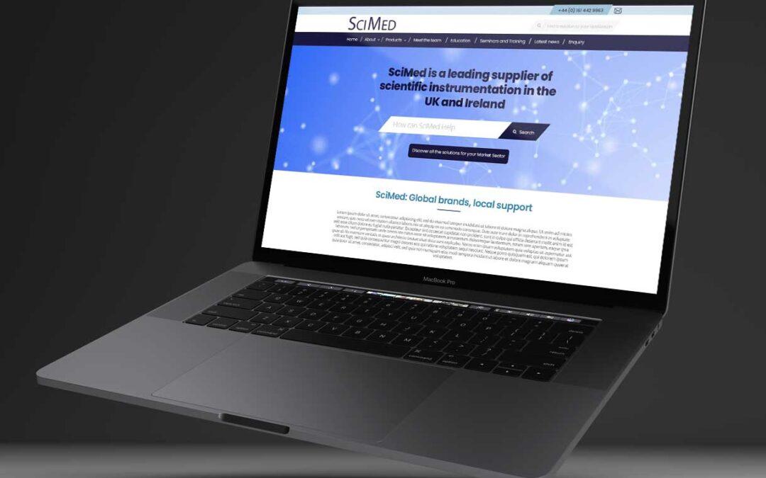 SCIMED website design and build