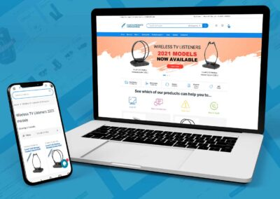 Hearing Products International  website design and build